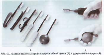 различные насадки на ручку зубной щетки, улучшающие ее захват и удержание.