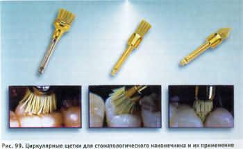Циркулярные торцевые щетки для очистки зубов