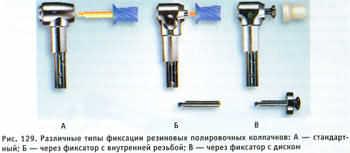 Системы фиксации чашечек на наконечнике